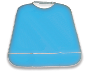 Picture of Blue Dental Bib - PVC (Velcro fastening)