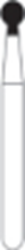 Picture of FG Diamond Burs - ROUND  with COLLAR (002)  -  Size 018 MEDIUM Grit  (5/pack)
