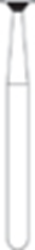 Picture of FG Diamond Burs - INVERTED CONE (014)  -  Size 018 MEDIUM Grit  (5/pack)
