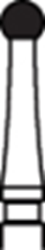 Picture of 12 Bladed TUNGSTEN CARBIDE Finishing Burs  -  Round (001)  - Size 016  (5/pack)