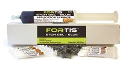 Picture of Fortis Jumbo Acid Etch Gel - Blue  (50ml Etch Syringe 10 Applicator Syringes & 60 Tips)