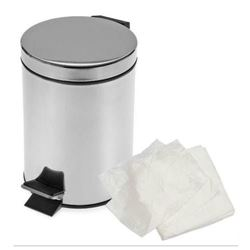Picture of Heavy Duty White PEDAL Bin Liners FLAT PACK  (1000/case)