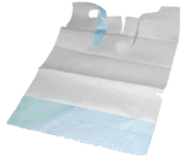 Picture of Adult Disposable Bibs with Front Pocket-Blue (100/pack)