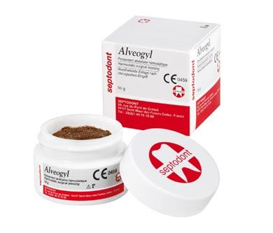 Picture of Alveogyl - Haemostatic Surgical Dressing  (1 x 10g Jar)