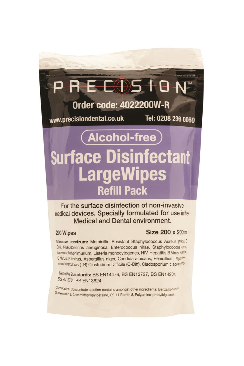 Picture of Surface Wipes – Precision ALCOHOL FREE Refills Jumbo (200 pack)