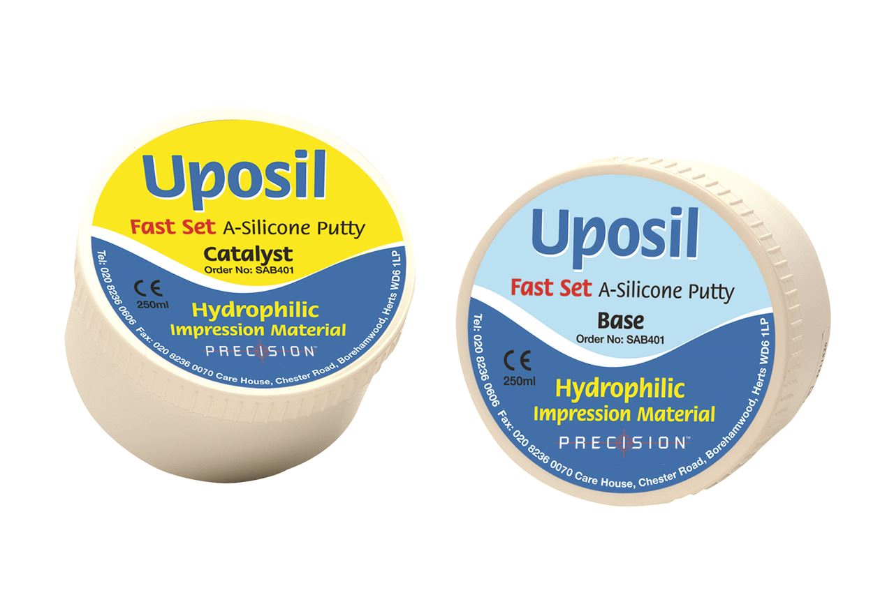 Picture of Uposil A-Silcone Putty, Light Blue, FAST SET (250ml Base & 250ml Catalyst)