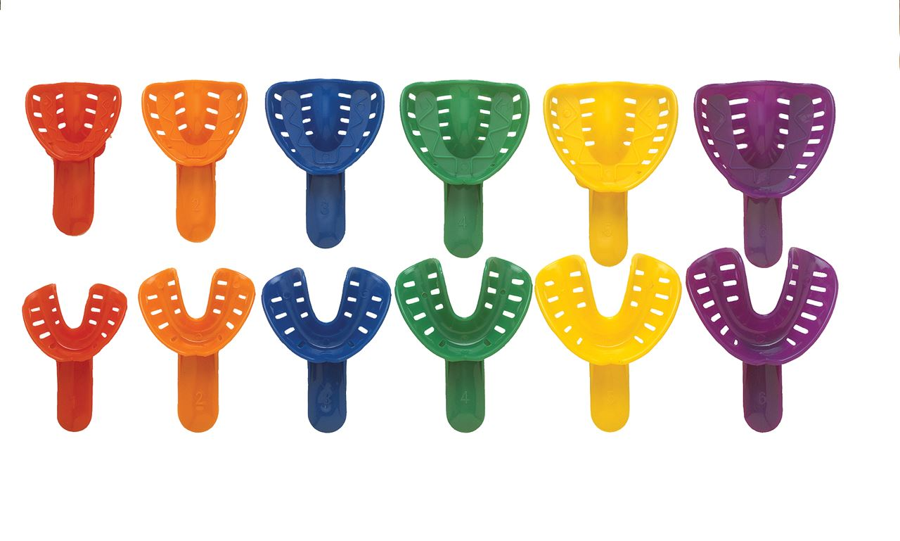 Picture of Disposable Orthodontic Trays -Adult Size 5 Lower - Yellow (50)