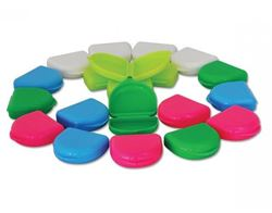 Picture of Bleaching/Whitening Retainer Boxes Assorted Colours  - SHALLOW - (10/pack)