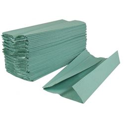 Picture of 1-Ply Green C-Fold Hand Towels (2520 Sheets)